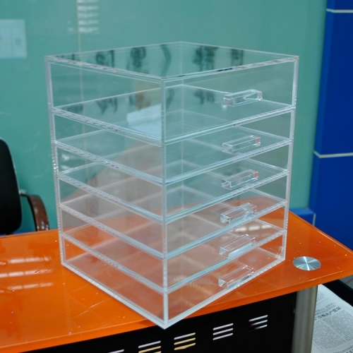 Makeup clear display cabinet/acrylic makeup organizer with drawers