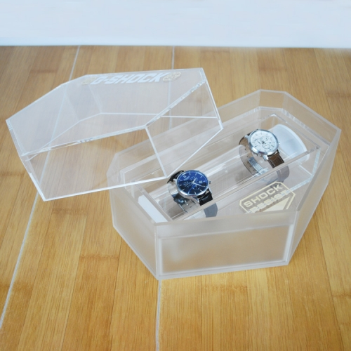 Acrylic clear watch display boxes